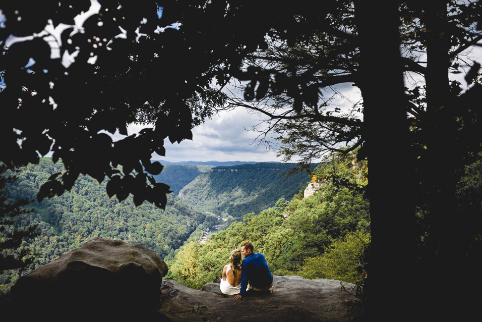 Elopement overlooking New River Gorge