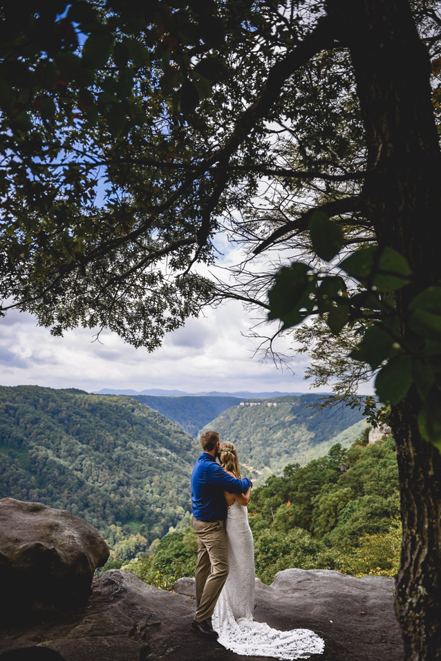 New River Gorge WV wedding overlook